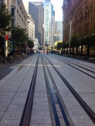 George Street new Light Rail tracks