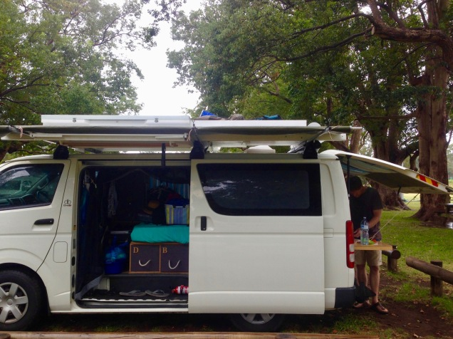 Our camp at Jamberoo