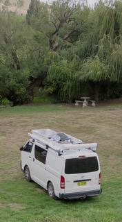 Where we camped at Hamilton