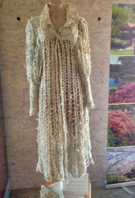 Dress made from paper yarn