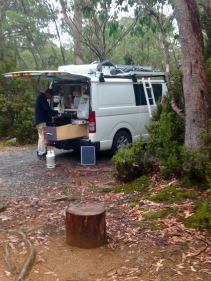 Camp at Cradle Mountain