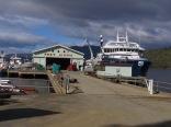 Port Huon. Boats from the Fish farm industry