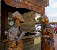 Wood sculptures at Geeveston