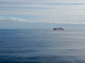 Passing the other Spirit of Tasmania in the Bass Strait