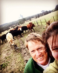 Out on the quad bike checking the herds