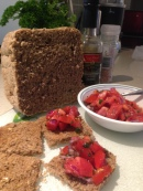 Home made bread and Salsa