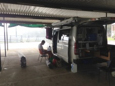Taree showground. Great wet weather camping!